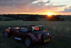 Sunset over Aga Fen Essex/Suffolk Border