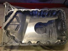 F20C Sump pan with baffle, ready for welding