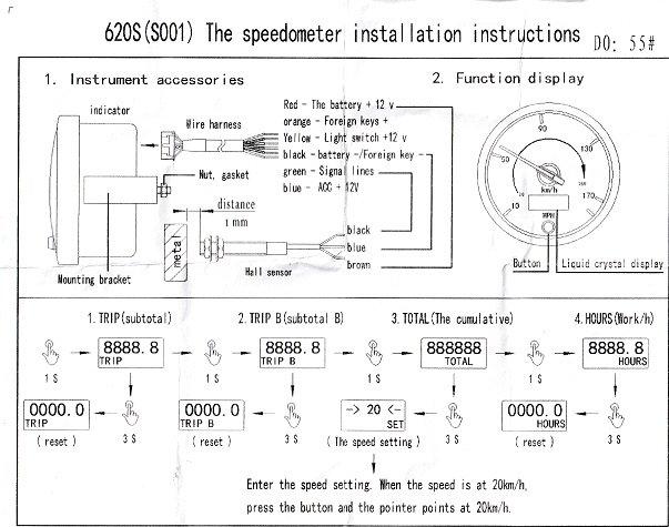 Rallye Design chinese speedo 620S(S001) - Tech Talk - WSCC - Community Forum | Speedometer Wiring Diagram |  | Forums